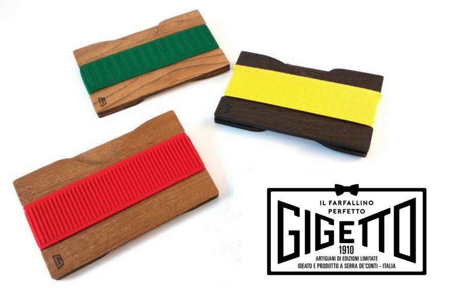 Porta carte credito in legno