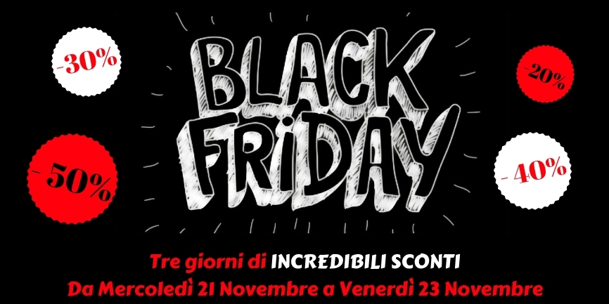 Pronti per il Black Friday 2018