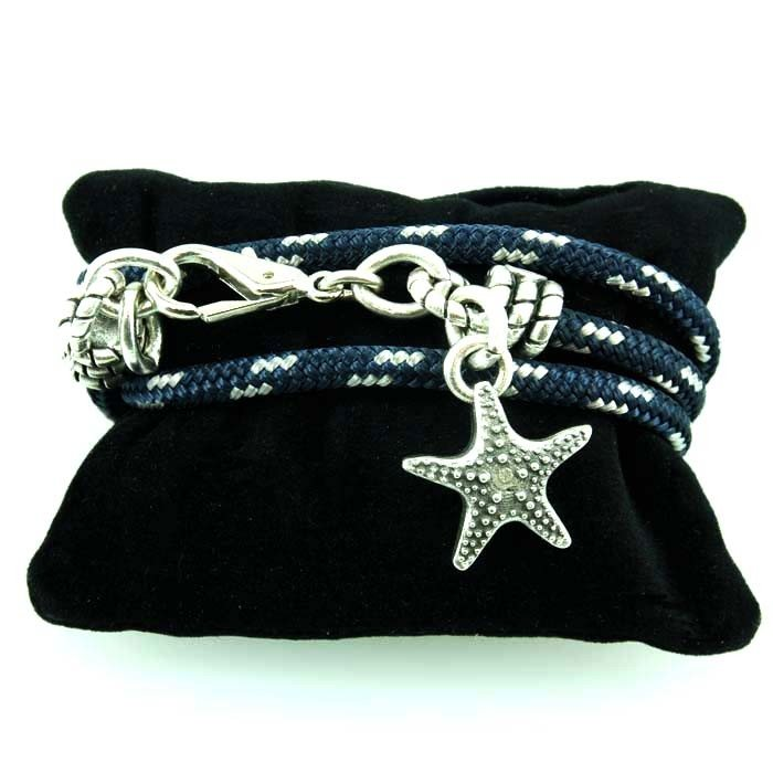 photo Bracelet08 Bracciale in corda con stella marina