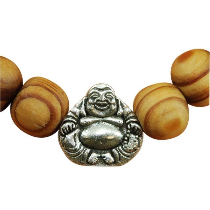 Bracelet15 Bracciale in legno Buddha