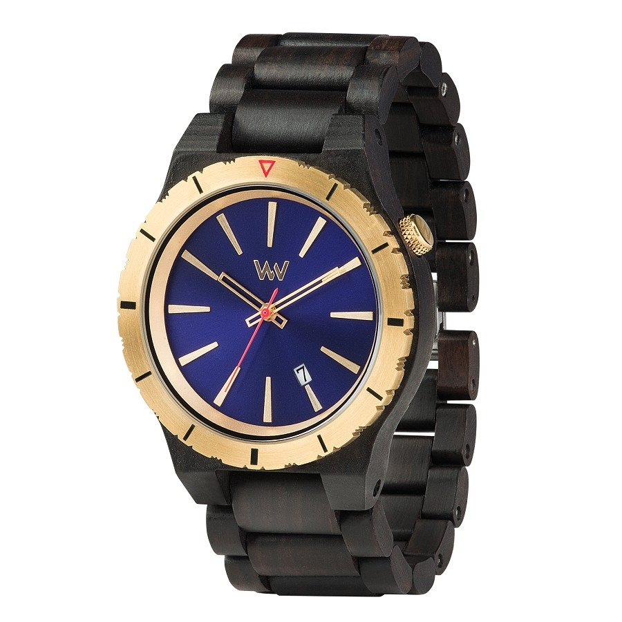 photo Orologio in legno ASSUNT MB BLUE GOLD