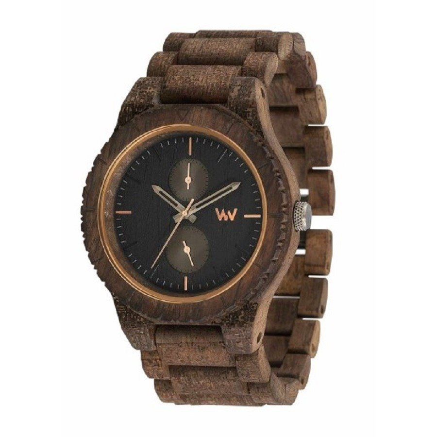 photo Orologio in legno KEAN TEXTILE CHOCO
