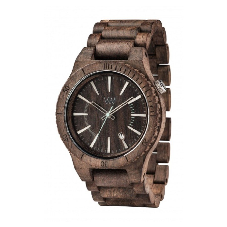 photo Orologio in legno ASSUNT CHOCO ROUGH