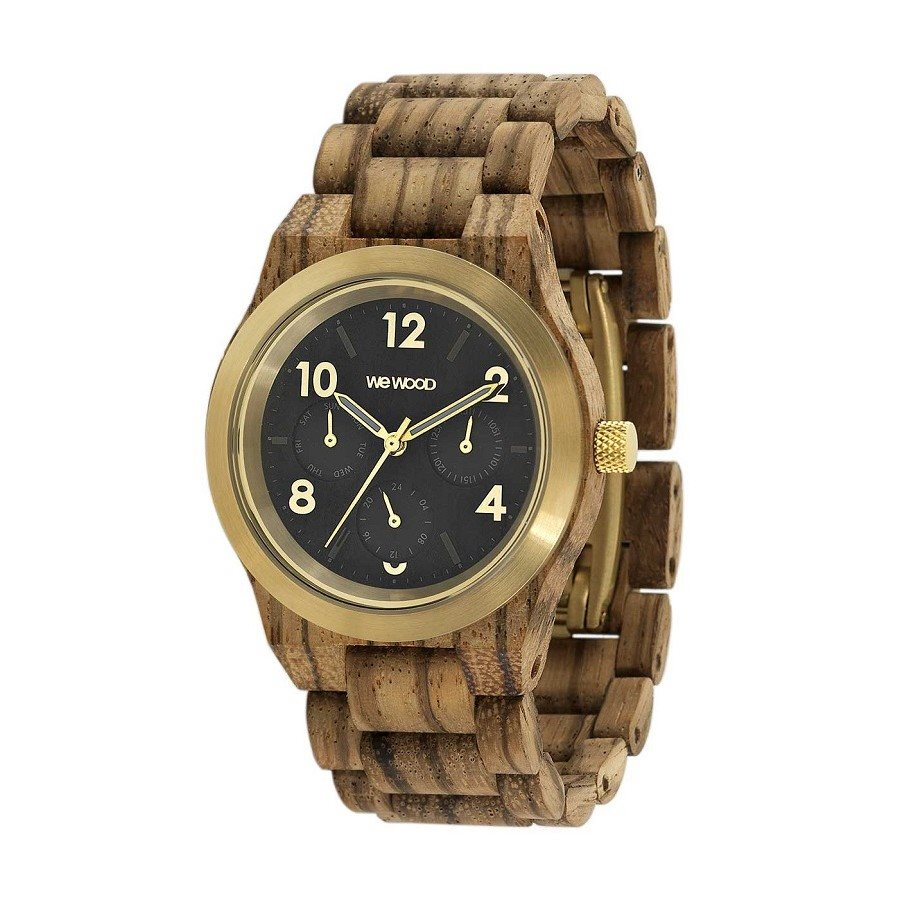 photo Orologio in legno KYRA MB ZEBRANO GOLD