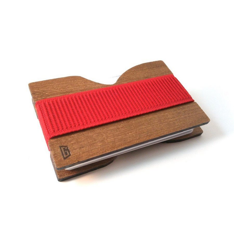 Porta Carte Gigetto1910 Teak Rosso