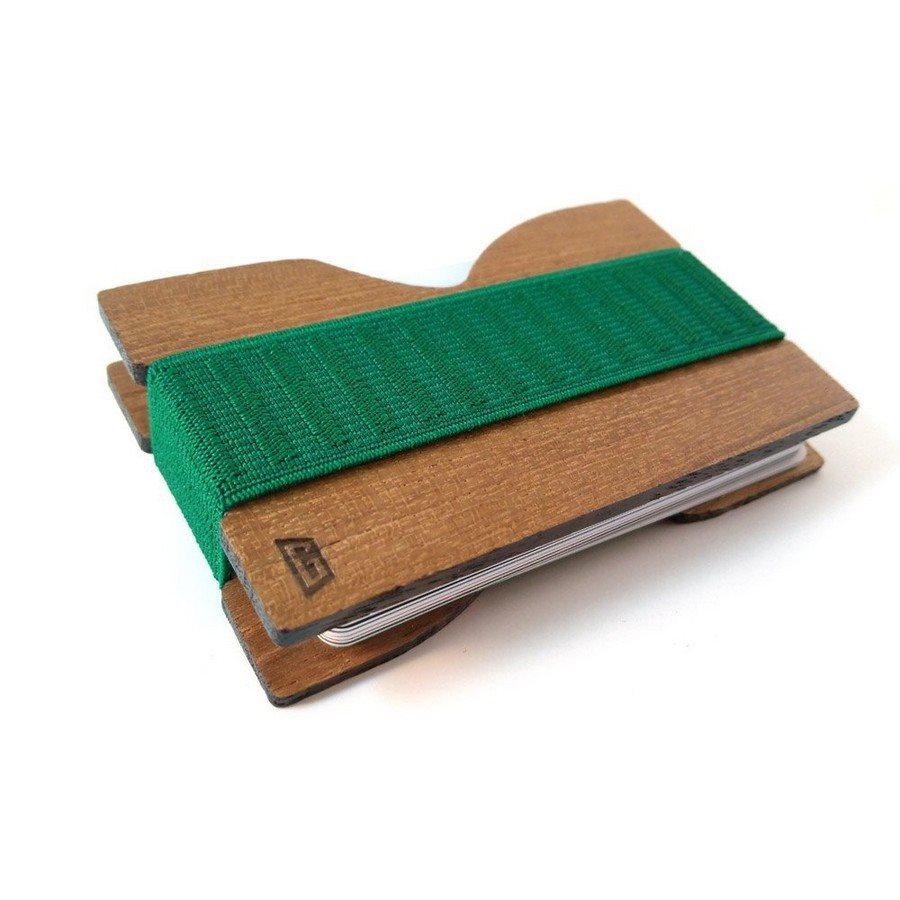Porta carte Gigetto1910 Teak Verde
