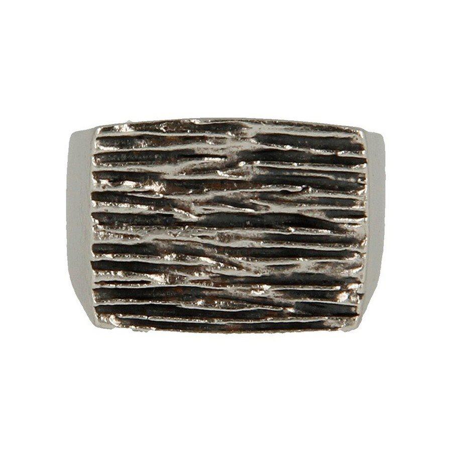 Anello argento 925 Rettangolare Inciso - taglia M