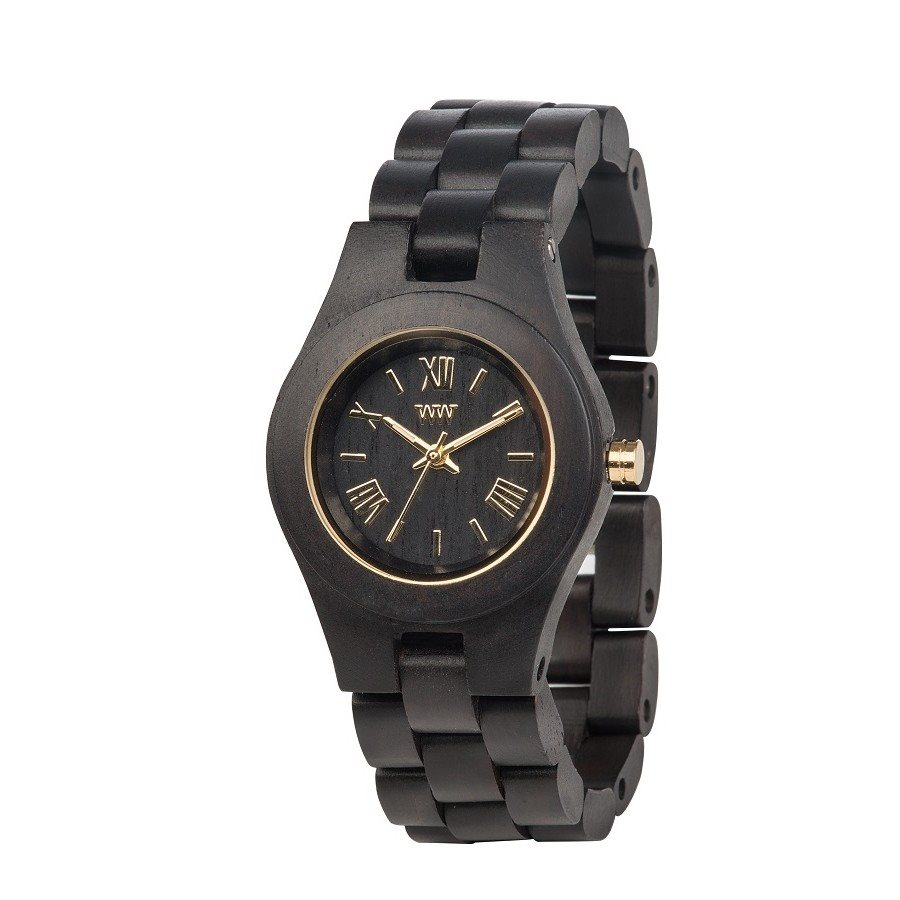 photo CRISS BLACK GOLD Orologio in legno