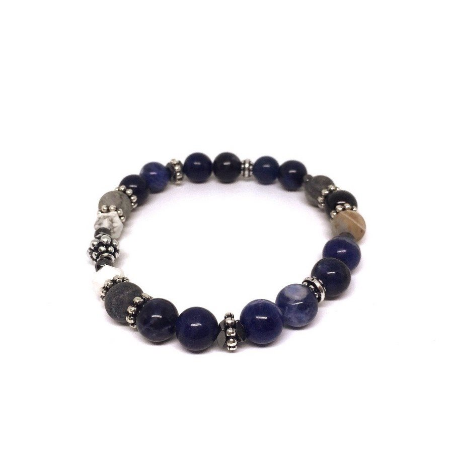 photo Bracciale Nettuno Pietra Solidalite 8mm