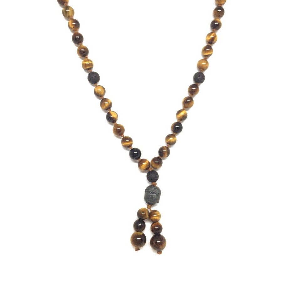 photo Necklace 73 Collana Mala Occhio di Tigre