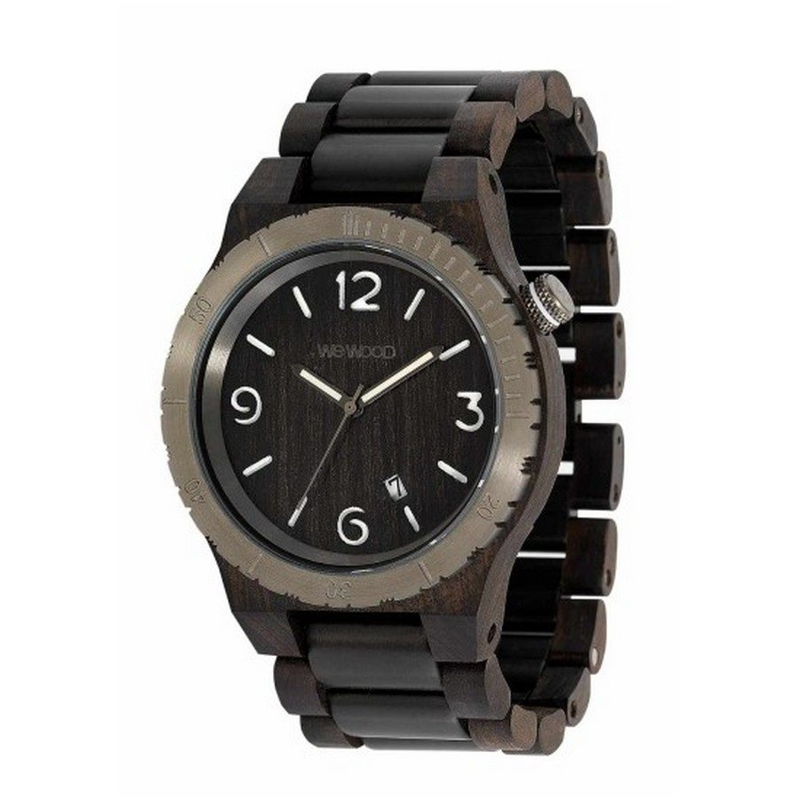 ALPHA ME BLACK ROUGH GUN Orologio in legno