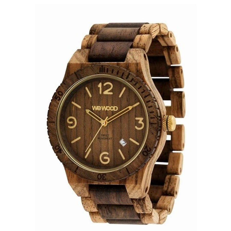 photo ALPHA SW ZEBRANO CHOCO ROUGH Orologio in legno