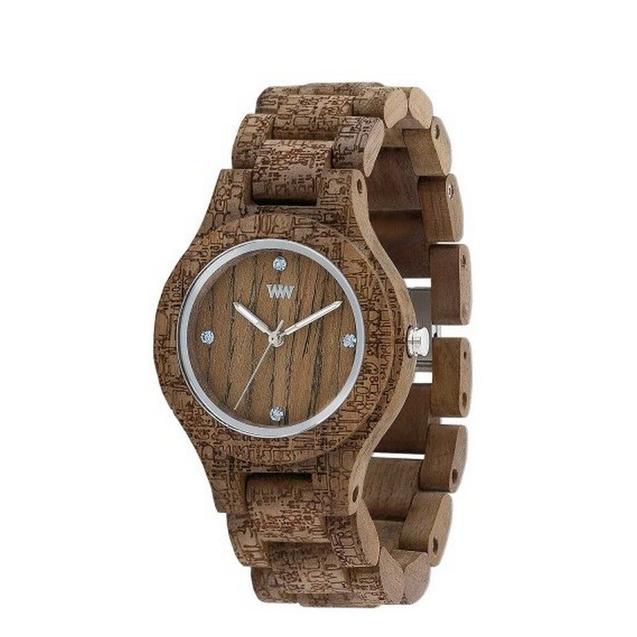 ANTEA NUT ROUGH FABRIC Orologio in legno