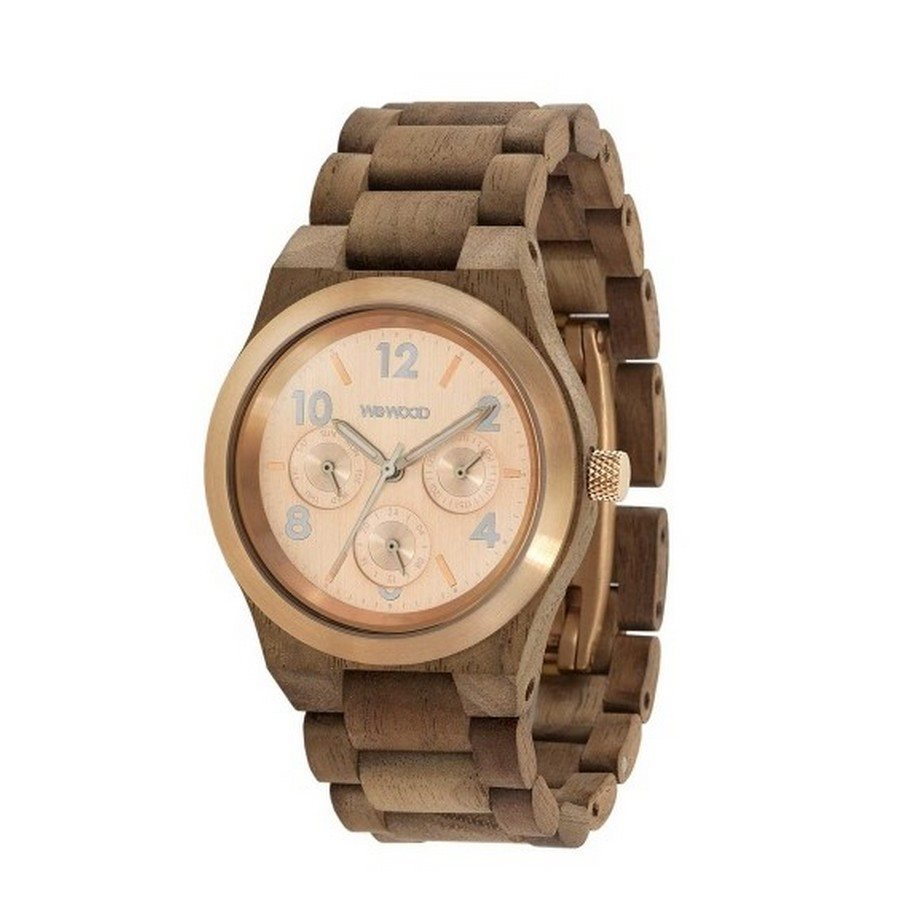 Orologio in legno KYRA MB NUT ROUGH ROSE GOLD