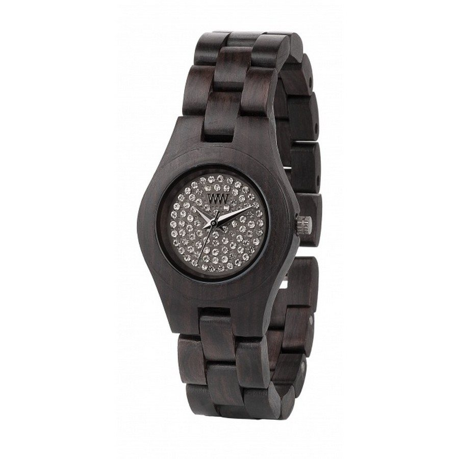 photo MOON CRYSTAL BLACK Orologio in legno