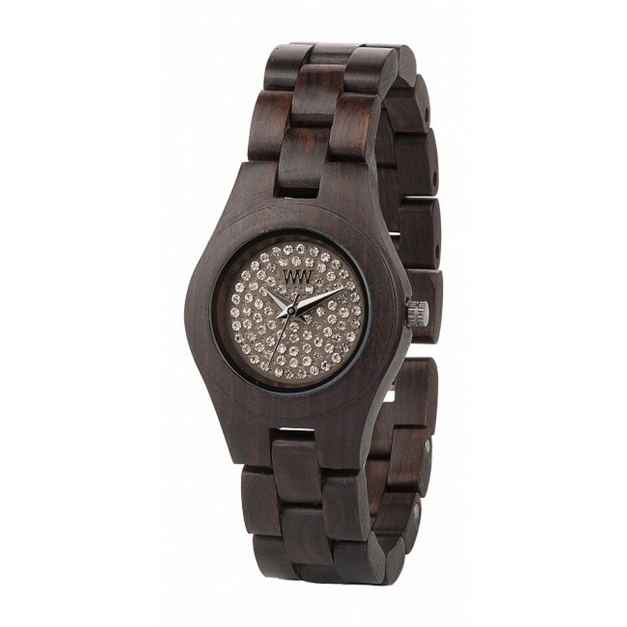 MOON CRYSTAL CHOCOLATE Orologio in legno