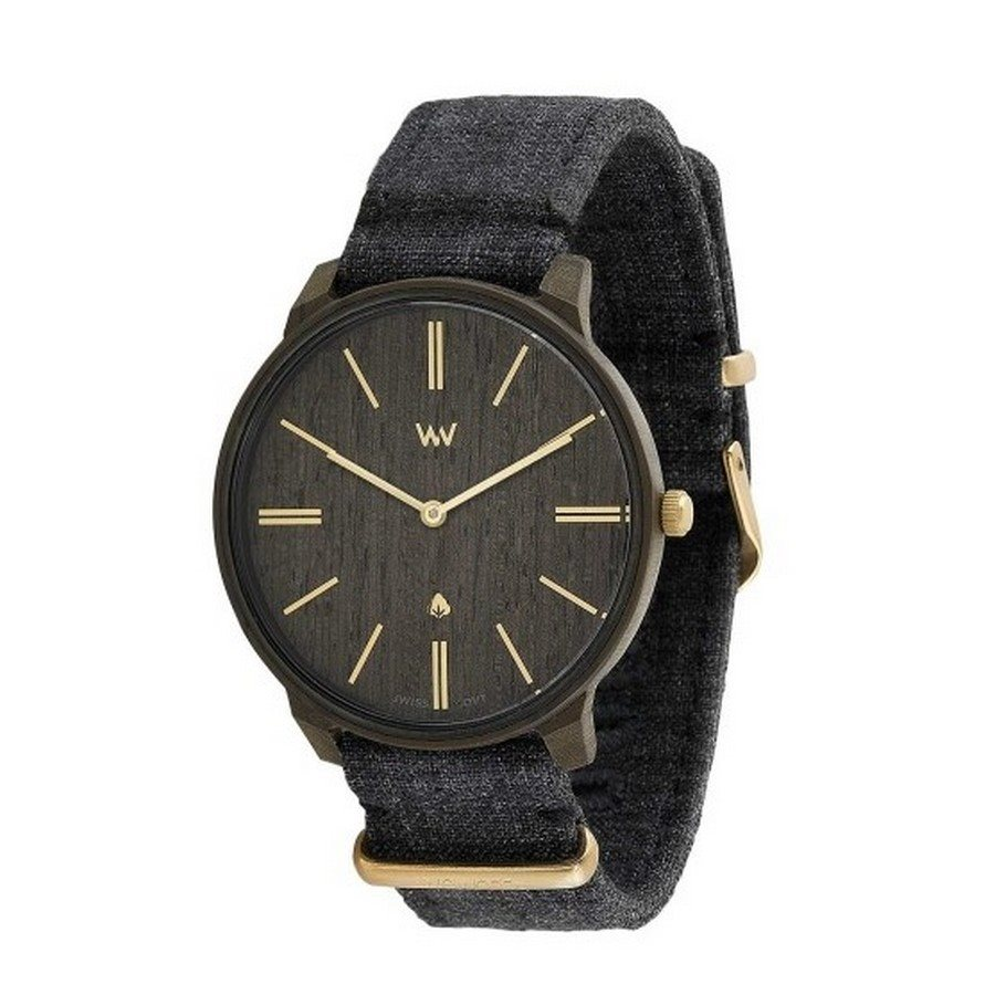 Orologio in legno ROSS BLACK GOLD