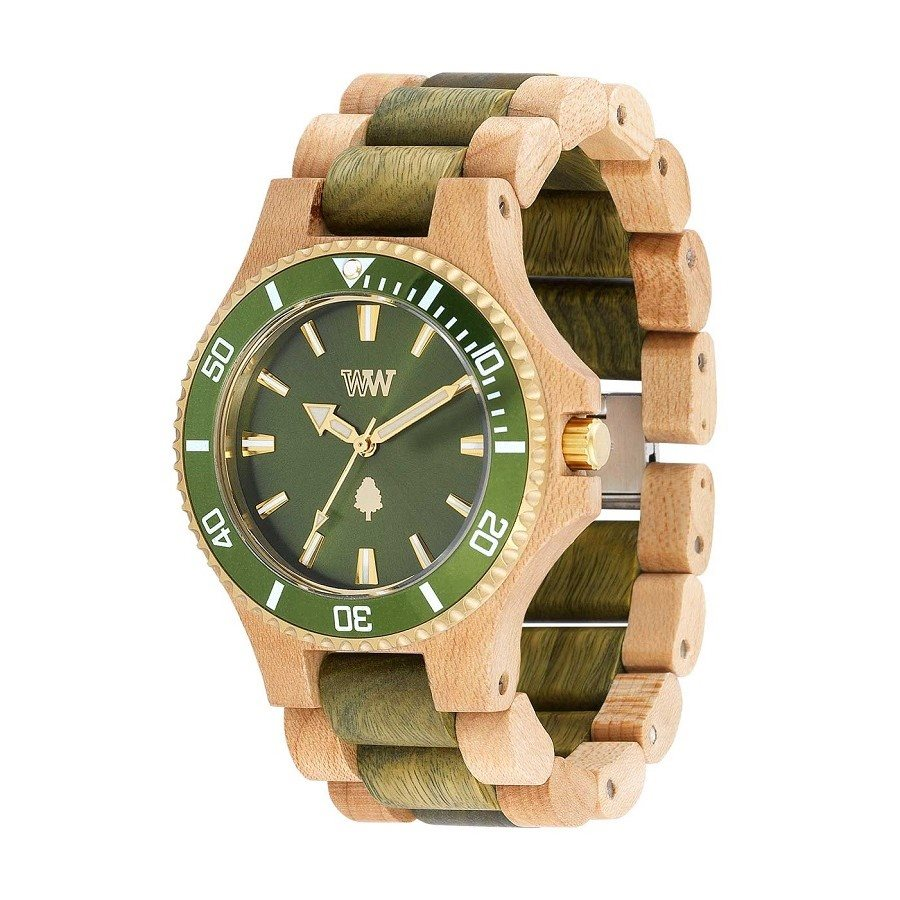 Orologio in legno DATE MB BEIGE ARMY