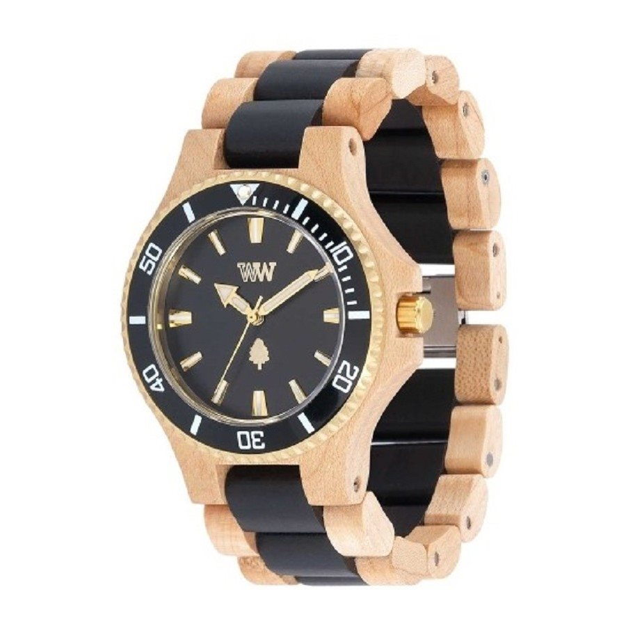 photo DATE MB BEIGE BLACK Orologio in legno