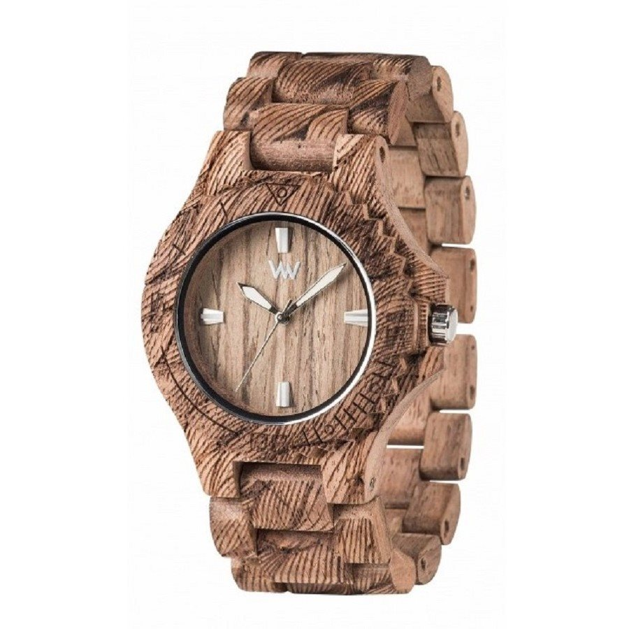 DATE WAVES NUT ROUGH Orologio in legno