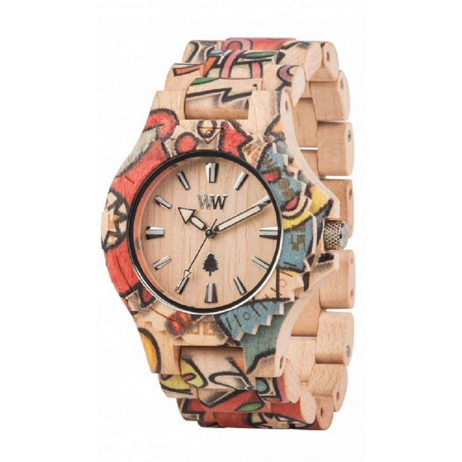 photo DATE WOOP LOVE BEIGE Orologio in legno