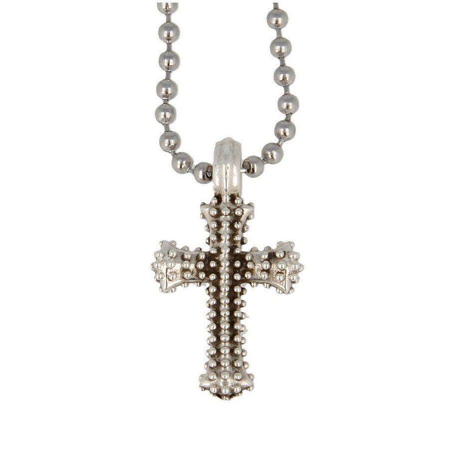 Collana Pendente Croce Borchiata