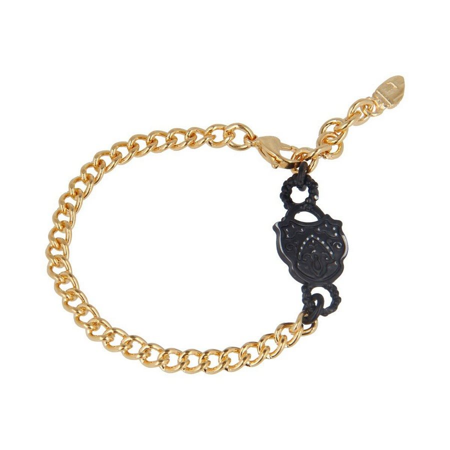 Bracciale Mix Oro Giallo Black Vintage Charms Lettere Hope