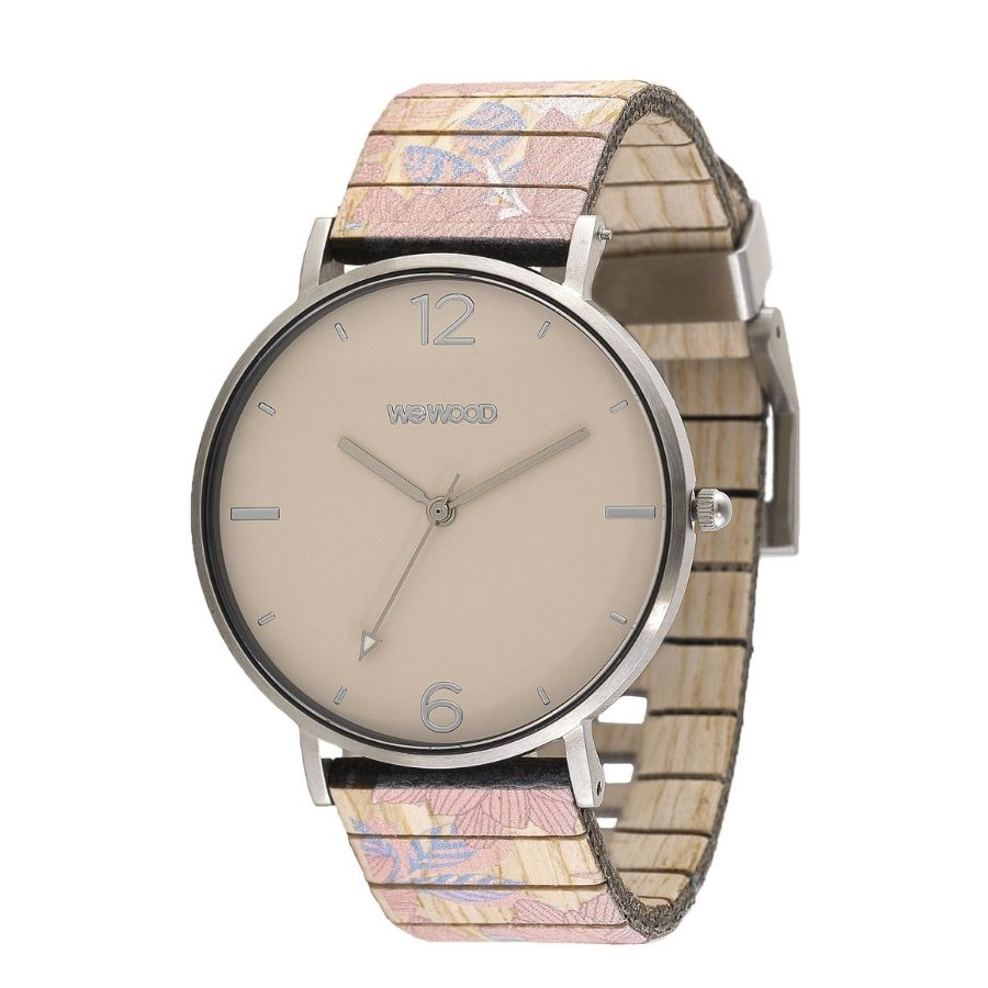 photo AURORA BLOOM BEIGE Orologio in legno