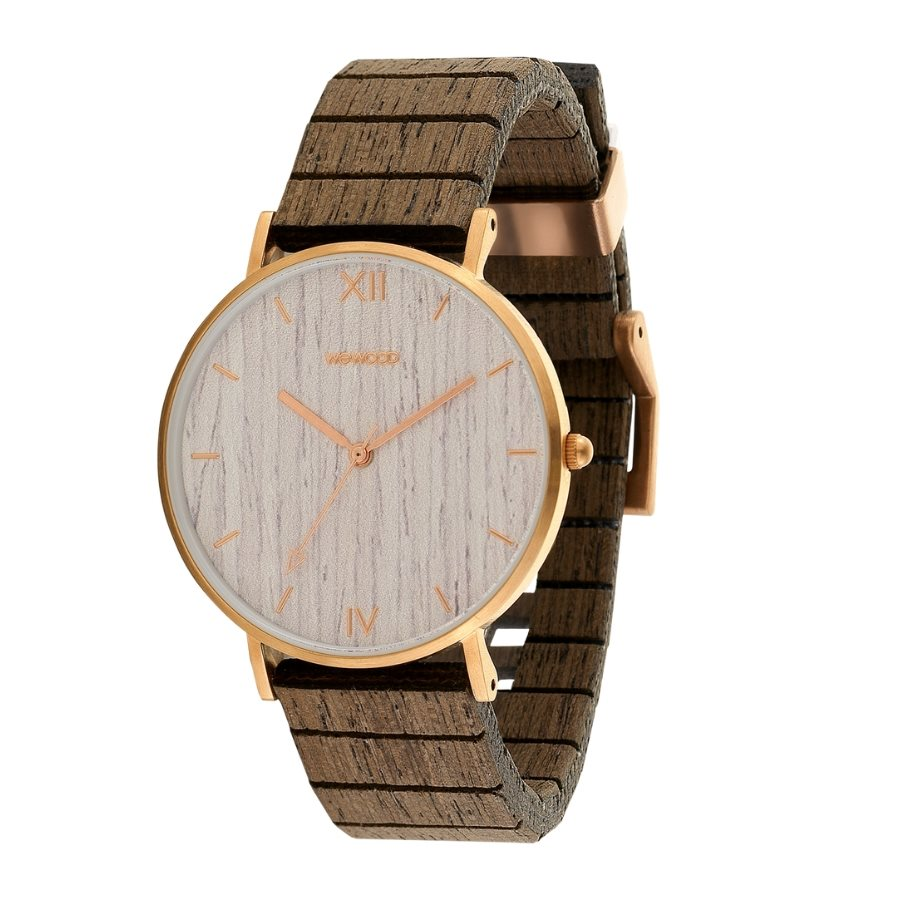 photo AURORA ROSE GOLD APRICOT Orologio in legno