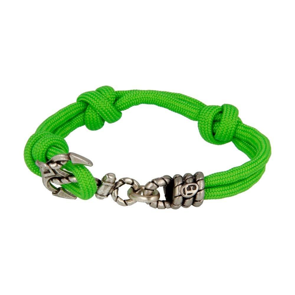 Bracciale In Corda Con Ancora Verde - Donna