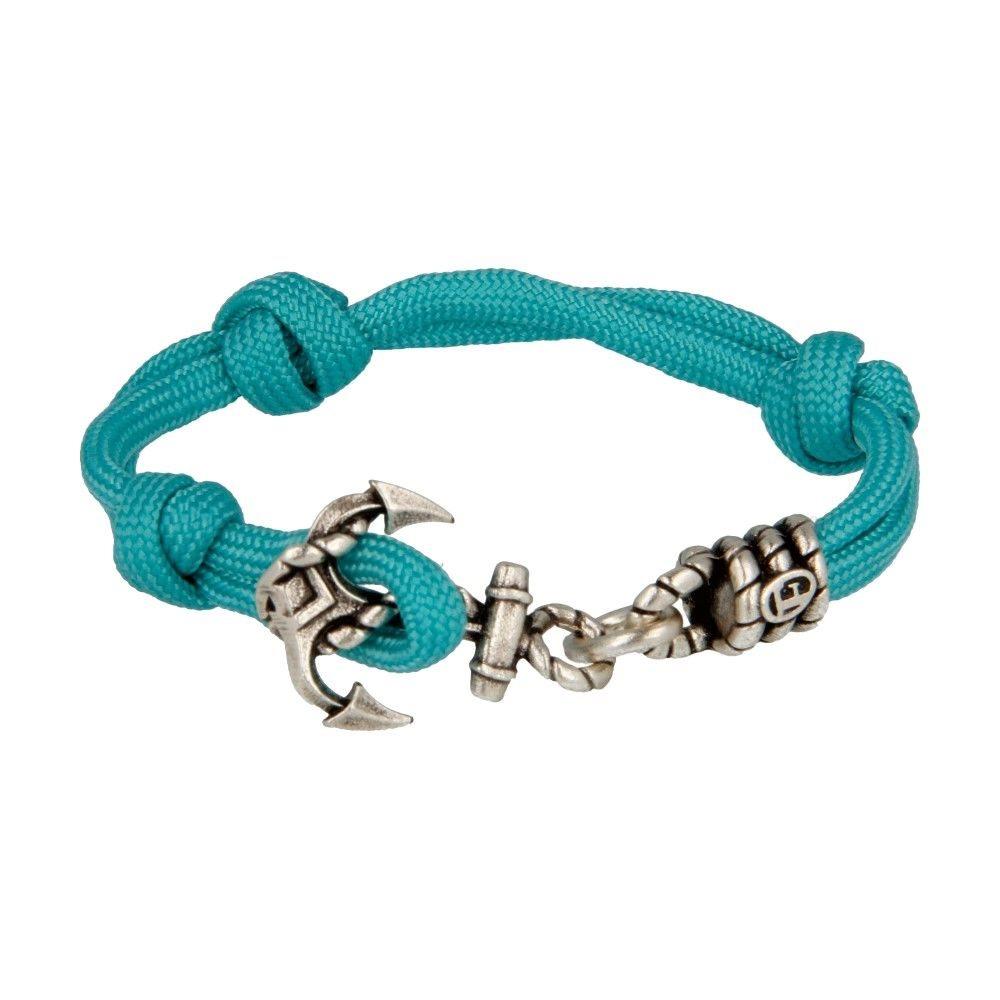 Bracciale In Corda Con Ancora Azzurro - Donna