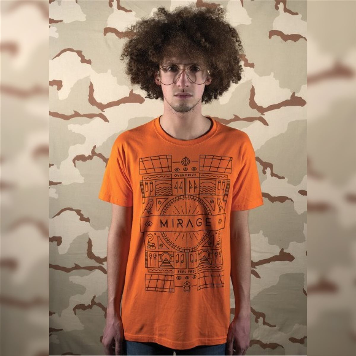 photo T-shirt Mirage Arancione - Taglia L