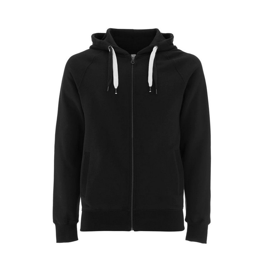 Felpa Unisex Zip-Up Hoody Black - Taglia XS