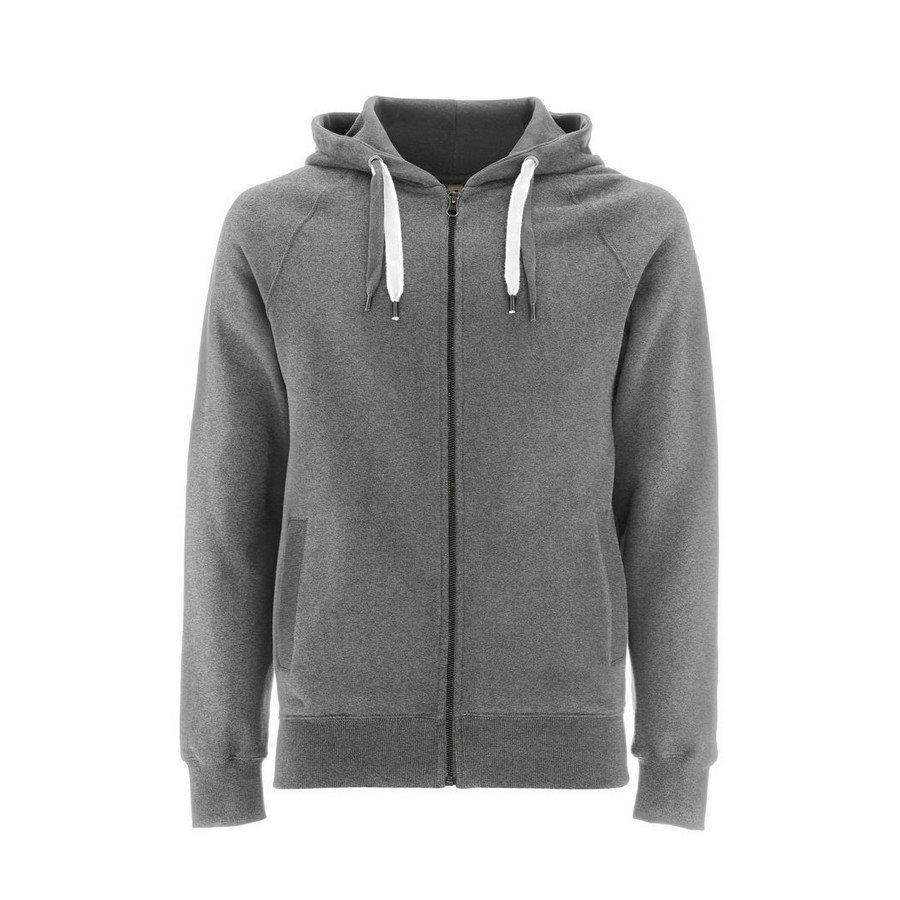 Felpa Unisex Zip-Up Hoody Melange Grey - Taglia XS