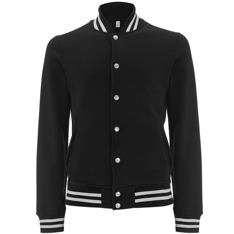 Felpa Varsity Jacket Black/White Stripes  - Taglia S