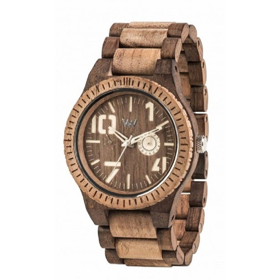 photo OBLIVIO CHOCO NUT ROUGH Orologio in legno