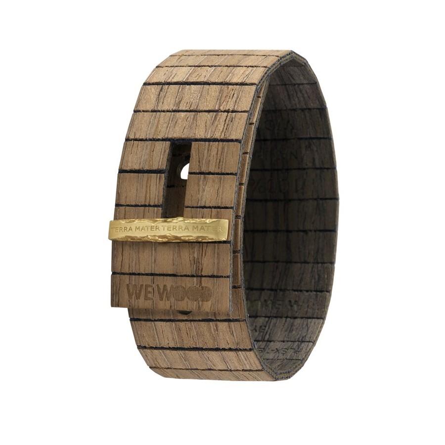 Bracciale in legno GEA NUT BLACK GOLD