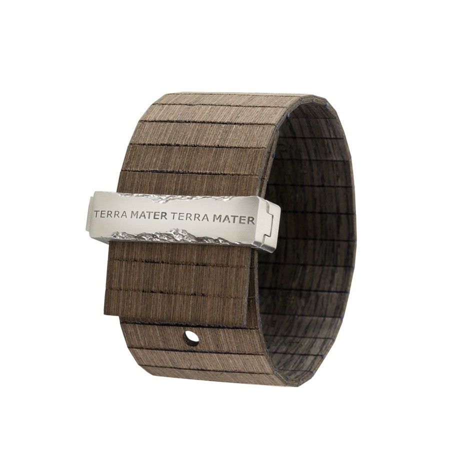 photo Bracciale in legno TALIA CHOCO BLACK SILVER