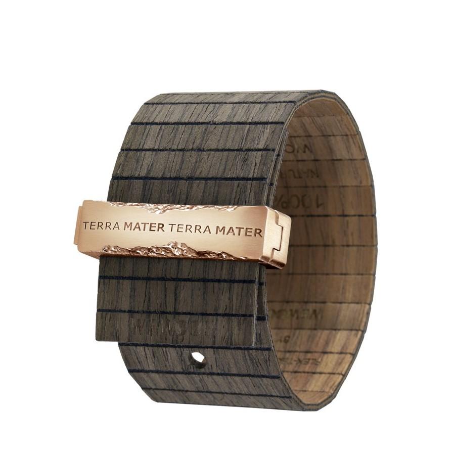 Bracciale in legno TALIA BLACK NUT ROSE