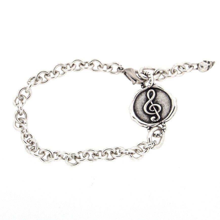 Bracelet24 Bracciale con chiave di violino