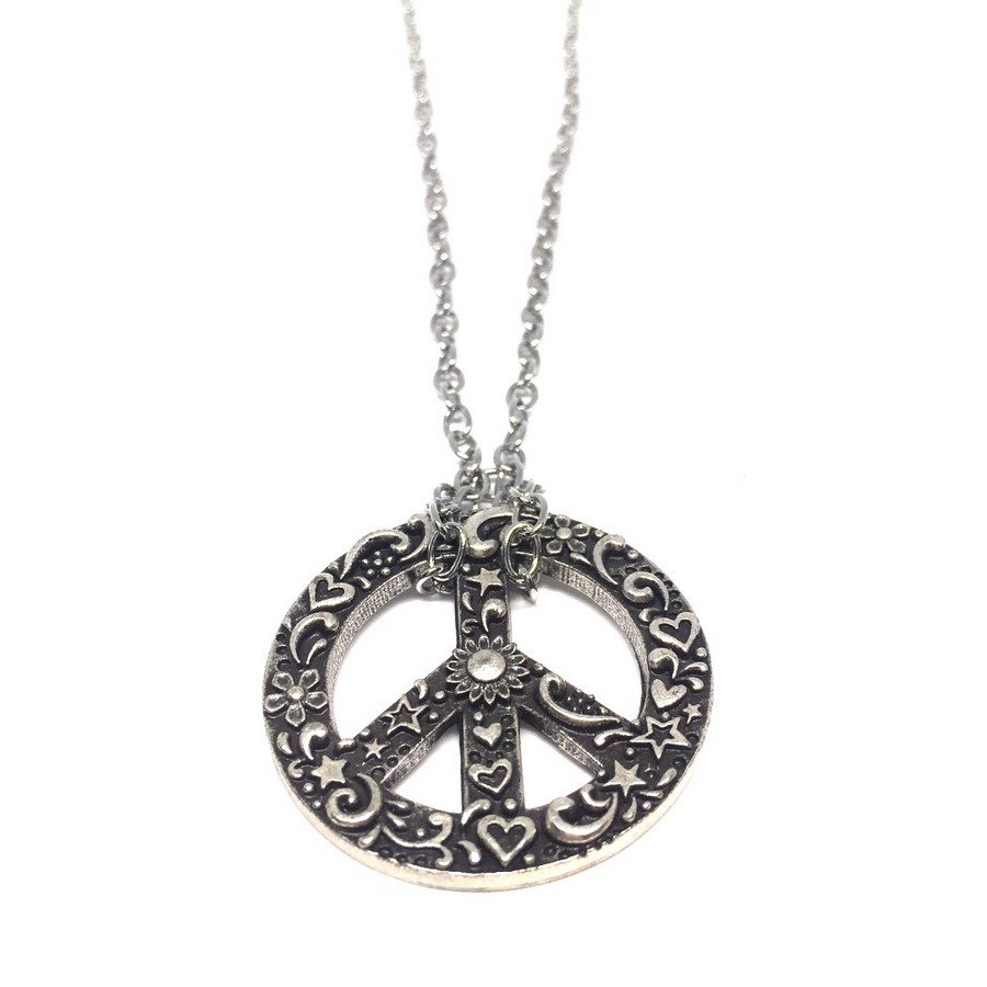 photo Necklace 17 Collana Simbolo Pace