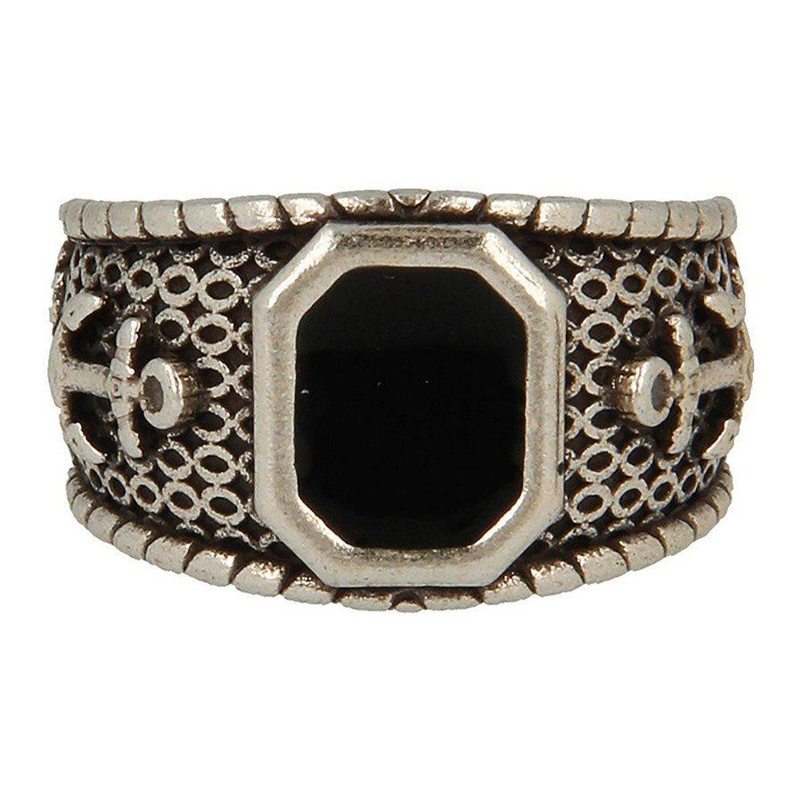 Ring 23 Anello Polished Black Stone - taglia L