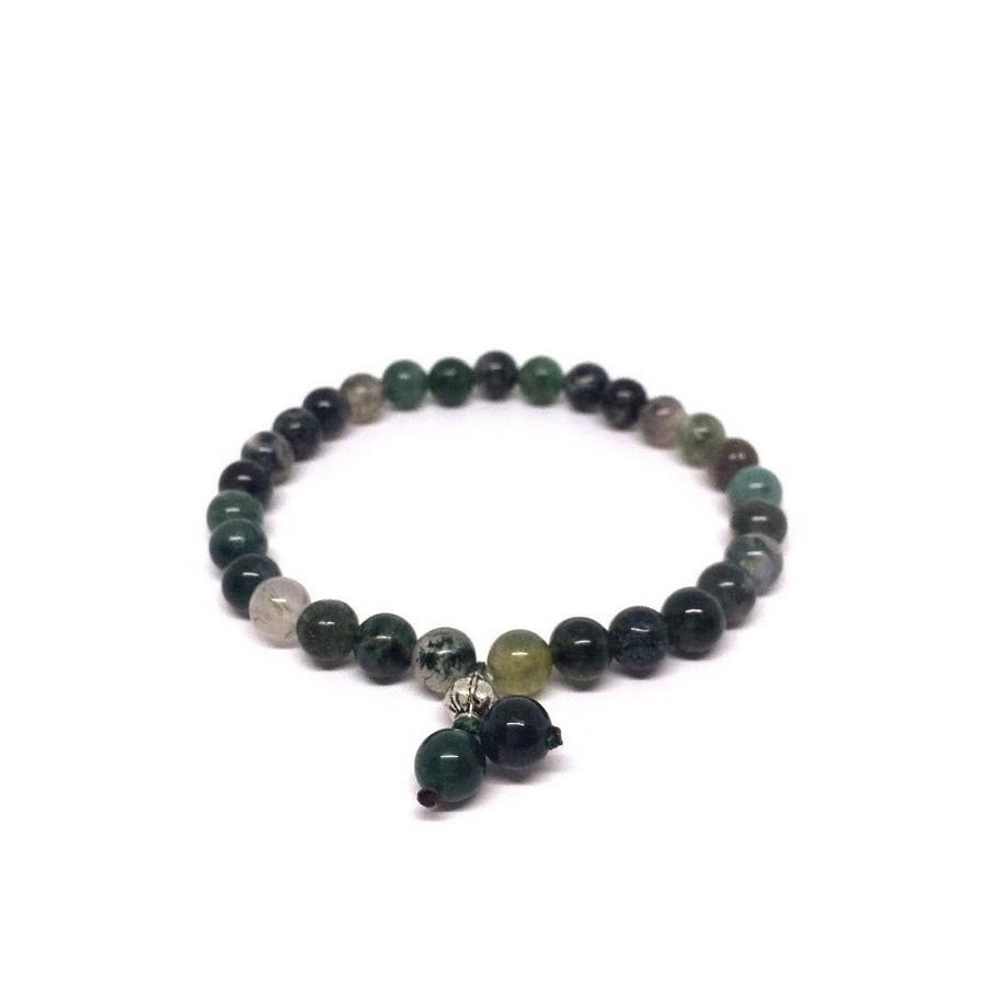 Bracciale verde Chakra del Cuore 6 mm