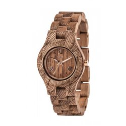 CRISS WAVES NUT ROUGH Orologio in legno