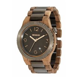 ALPHA ME  NUT ROUGH GUN ROSE Orologio in legno