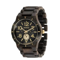 KARDO MB BLACK ROUGH GOLD Orologio in legno