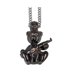 Collana Pendente Teddy Bear Killer Finitura Rutenio
