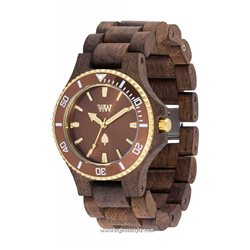 DATE MB CHOCO ROUGH BROWN Orologio in legno