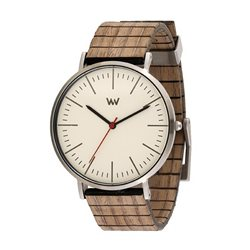WeWOOD  HORIZON SILVER IVORY NUT Orologio in legno