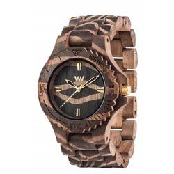 DATE NATURE ZEBRA NUT Orologio in legno LIMITED EDITION